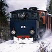 HKR5 talvisen Ruskajunan vedossa lokakuussa 2002. Kuva: Teemu Virtanen