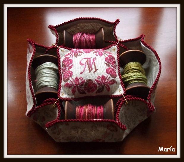 Porta bobinas rosas-4