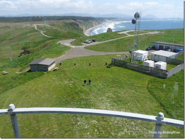 View from the top of Cape Blanco Lighthouse