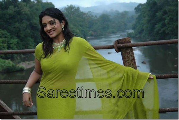 Vimala_Raman_Green_Saree