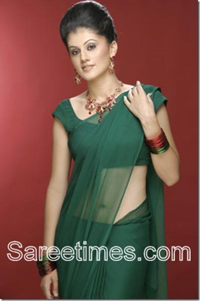 Taapsi_Green_Designer_Saree