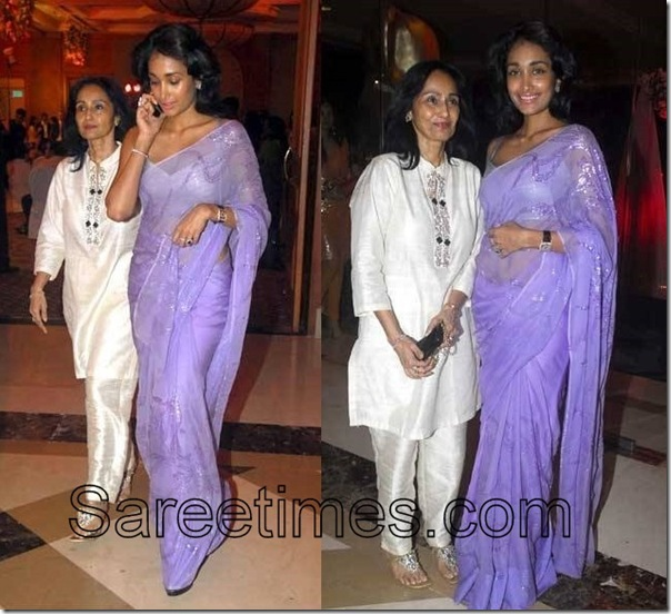 Jiah_Khan_Blue_Saree