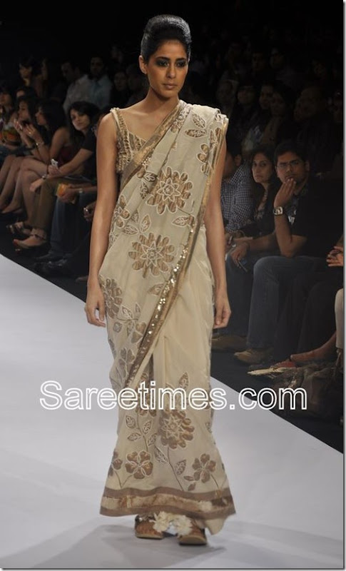 Debarun_Cream_Saree