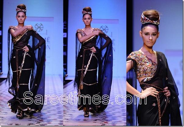 Priya_Puri_Black_Saree