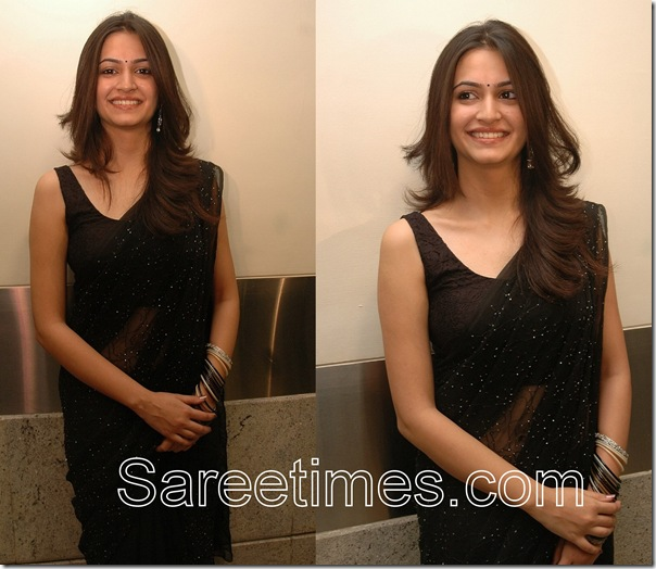 Kriti_Kharbanda_Black_Saree