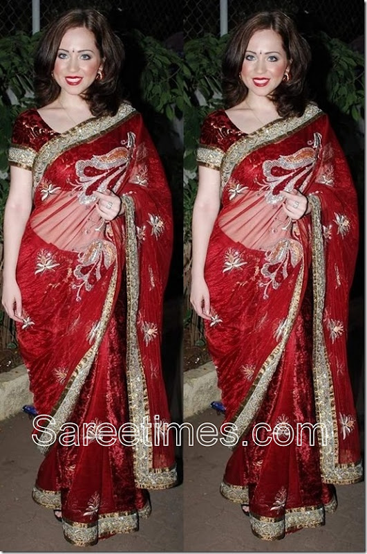 Saidah_Jule_Red_Saree