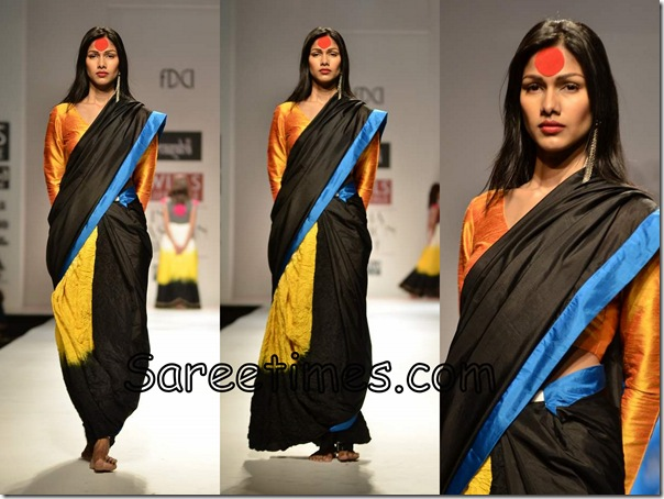 Masaba_Designer_Black_Saree