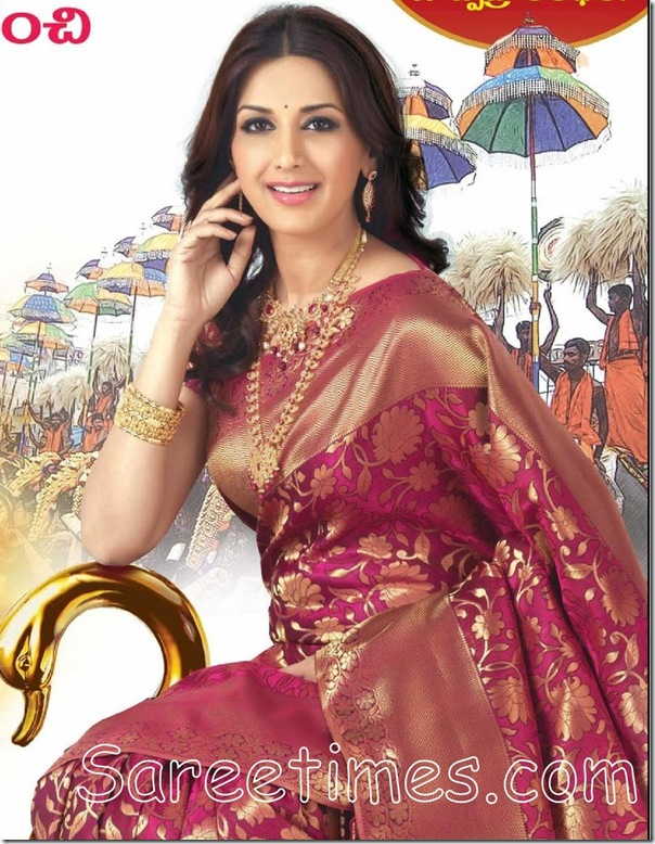 Sonali_Bendre_Kanchipuram_Silk_Saree