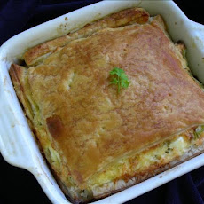 Swiss, Broccoli, and Salmon Pie