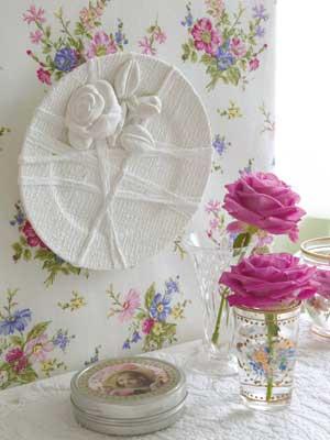 manualidad para decorar con un plato