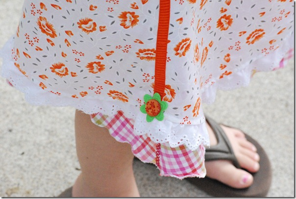 Apricot picnic skirt 052