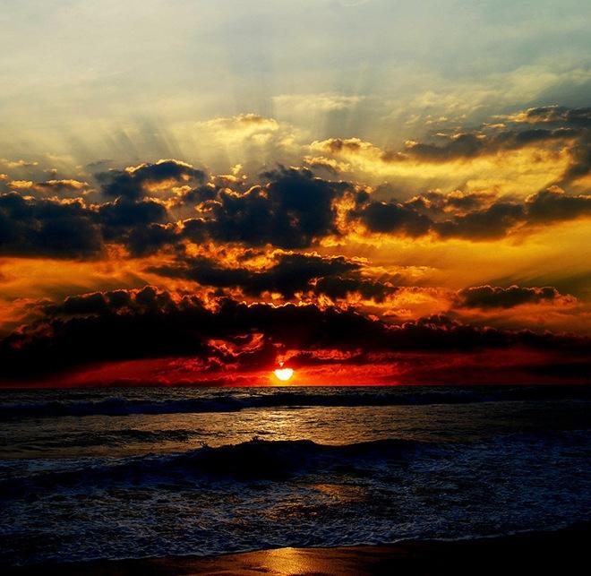O por-do-sol mais lindo de todos os tempos.