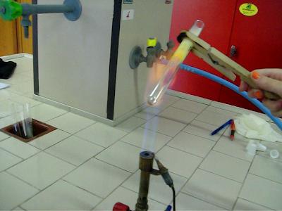effetto del calore sulla miscela zolfo-ferro
