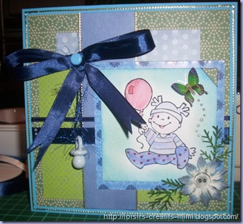 carte tampon acrylique éline baby