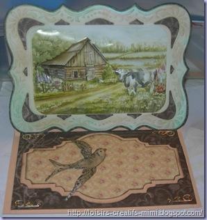 carte chevalet paysage 3D
