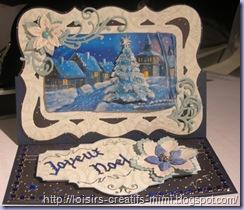 carte 3D chevalet Noël