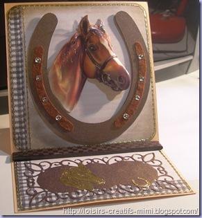 carte chevalet cheval en 3D