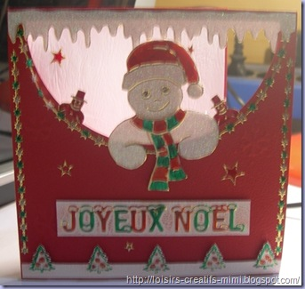 carte de noël & stickers