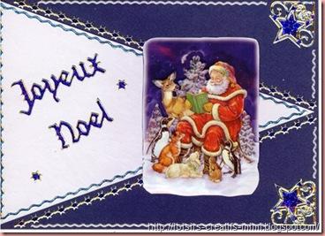 carte 3D de Noël