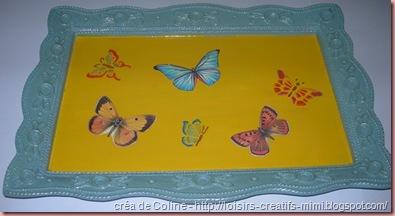 plateau décoré papillon