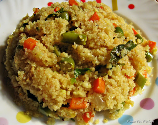 Vegetable Upma or Uppittu