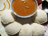 Idly/Idli with Sambar