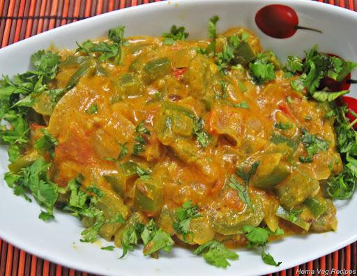 Capsicum Masala or Capsicum Sabji or Sabzi