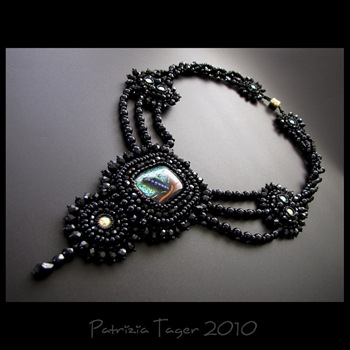 Fly me to the moon - ooak necklace 01 copy