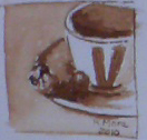 cafe, coffe, monocolor, aquarel?la, acuarela, watercolor, rmora