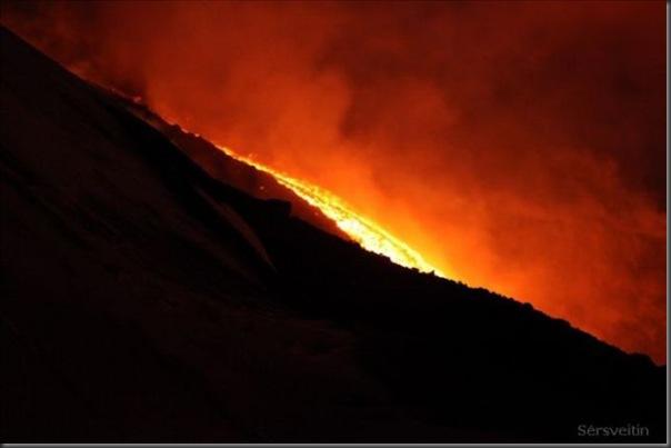 Uma erupção do vulcão islandês (18)