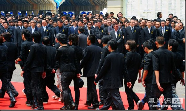 funeral de chefe de máfia de Taiwan (3)