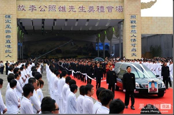funeral de chefe de máfia de Taiwan (4)