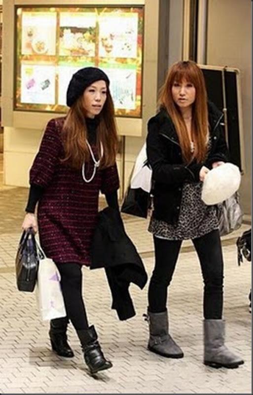 A moda na rua das garotas japonesa