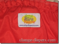 amp diaper label