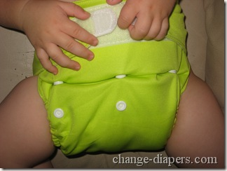 medium diaper on baby