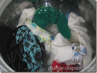 soaking diapers overnight