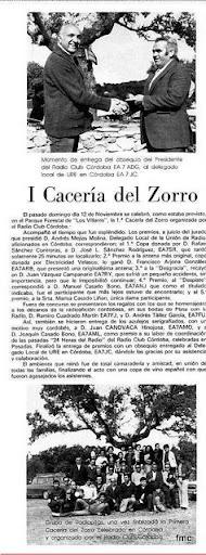 Una actividad del Radio Club Córdoba la cacería del zorro