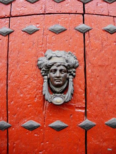 Aldaba del Palacio de los Trillo, casa número tres de la calle de La Palma