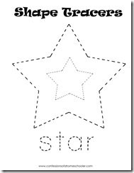Laminate and use with dry-erase to trace the shape/word Cut out shapes ...