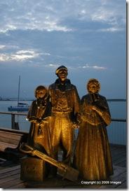 Floodlit Statues