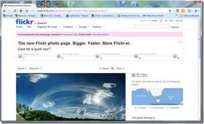 new flickr page