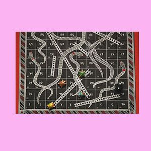 Handicrafted Snakes and Ladders