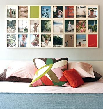 A colorful collage by bedside