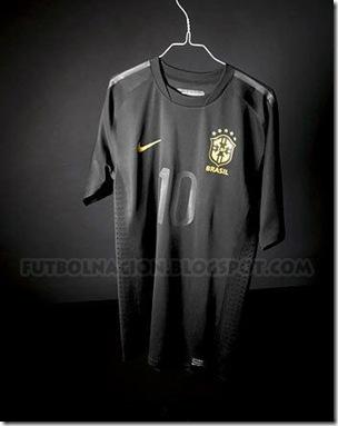brasil camiseta negra 2010