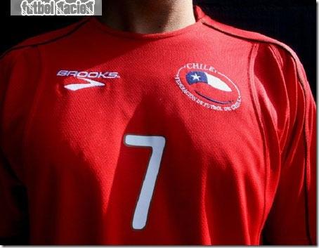 nueva camiseta chile brooks 2010