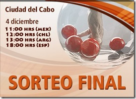 sorteo final sudafrica 2010