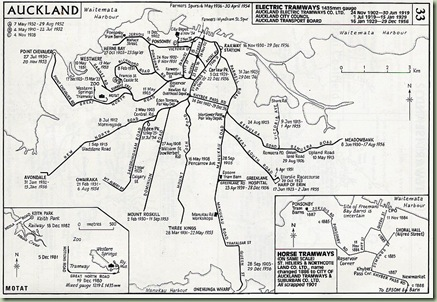 Auckland tram network 1902-56