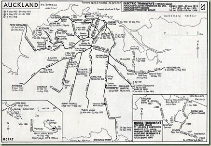 Auckland tram network 1902-56