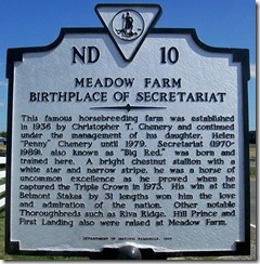 ND10 Meadow Farm Birthplace of Secretariat