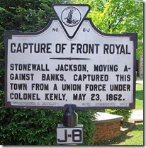Capture of Front Royal Marker J-8